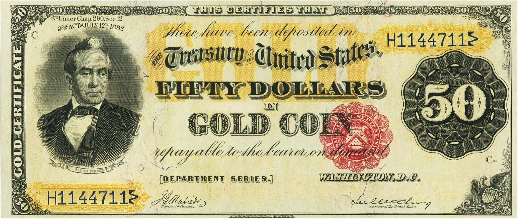 Gold certificates and bank notes for sale donckelly 50 gold notes series 1882 1betcityfo Gallery