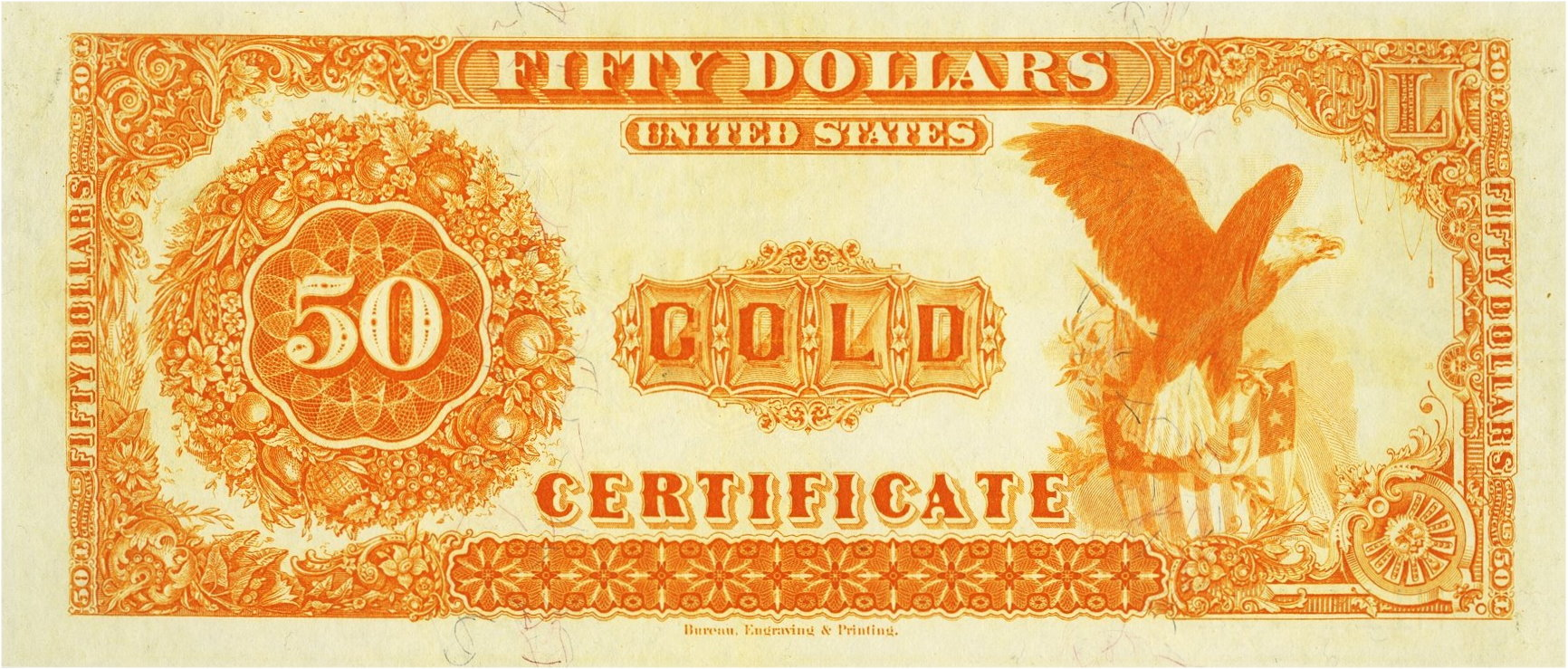 Gold certificates and bank notes for sale donckelly 50 gold notes series 1913 1922 xflitez Choice Image