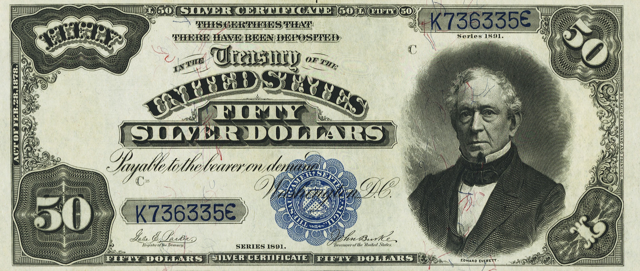 Large type bank notes for sale donckelly 50 silver certificates f323 f335 xflitez Gallery
